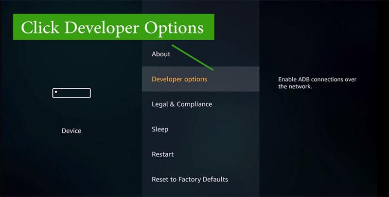 developer option firetv